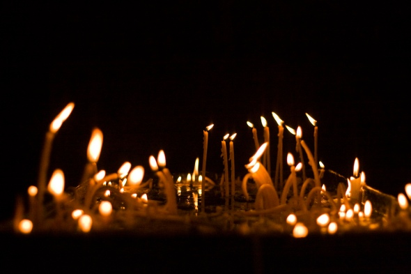 Candles in Armenian church